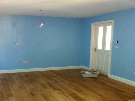 blue room and door
