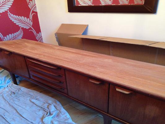 damaged long john retro furniture
